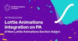 Lottie Animations Integration in Premium Addons