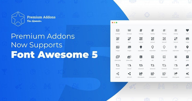 Premium Addons Now Supports Font Awesome 5