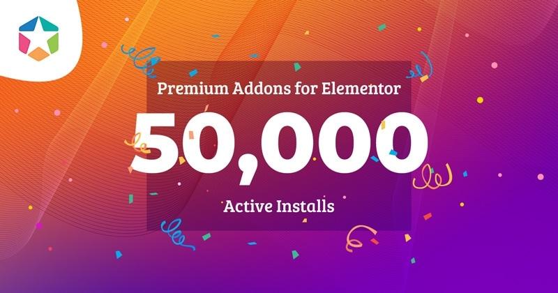 Premium Addons is Now Installed on 50,000 Websites