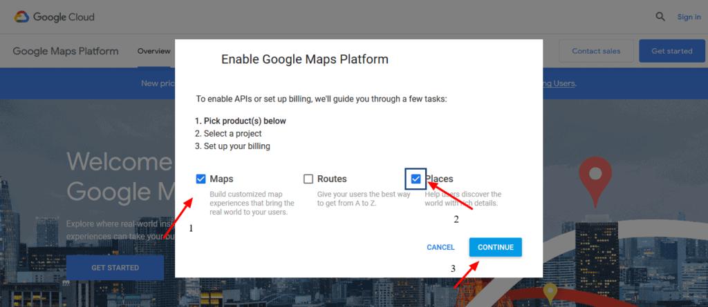 Enable Google Maps Platform for Elementor Google Review Widget