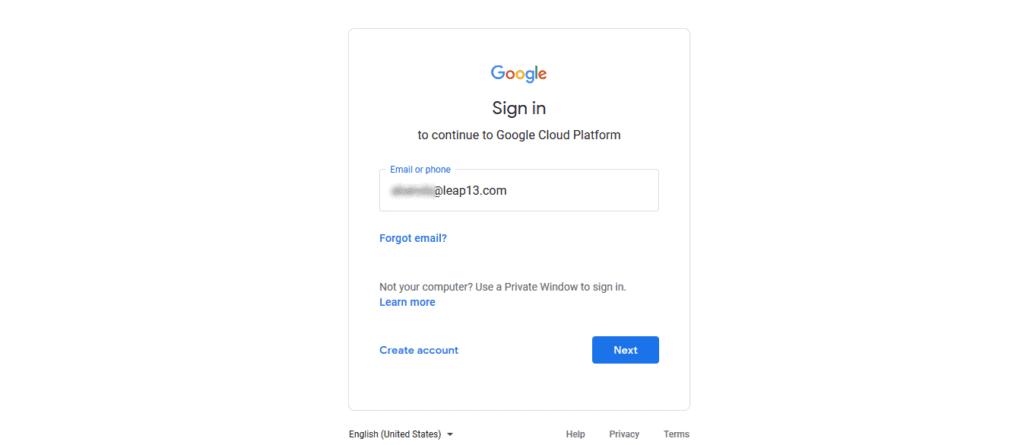Login to Google Account