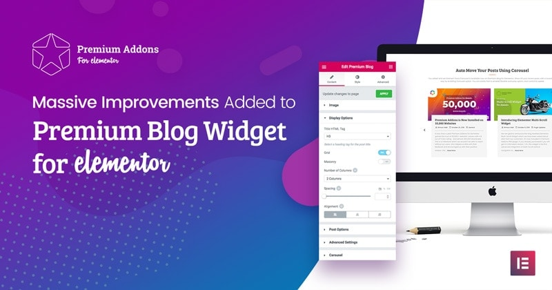 Elementor Blog Widget improvements