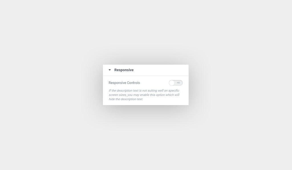Elementor Banner Widget Responsive Controls