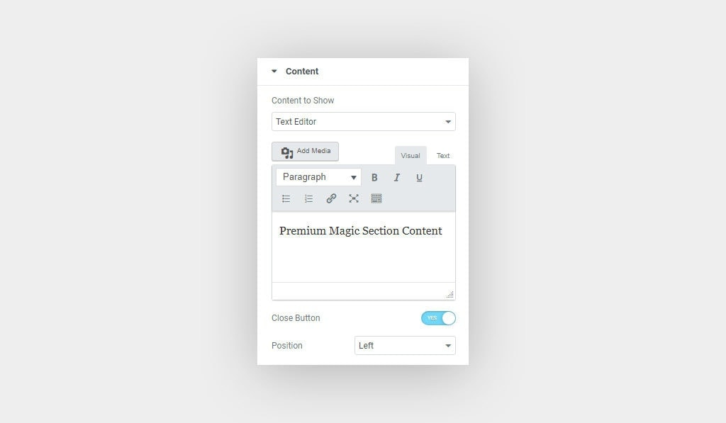 Premium Magic Section Widget for Elementor Page Builder