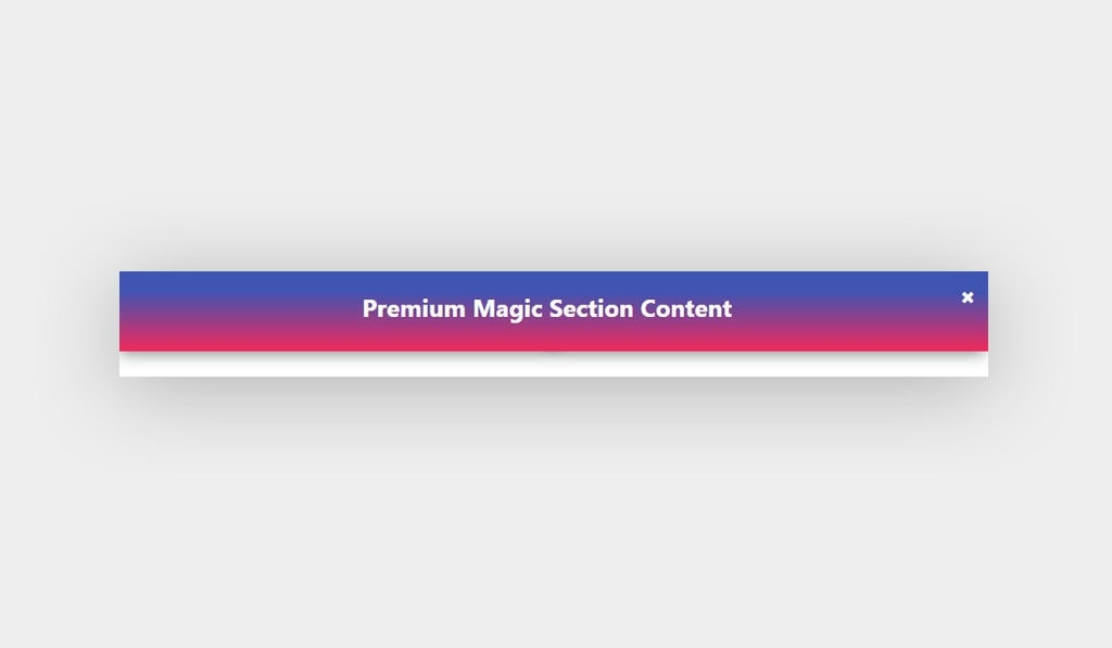 Elementor Magic Section Container with a Basic Gradient Background and Box Shadow