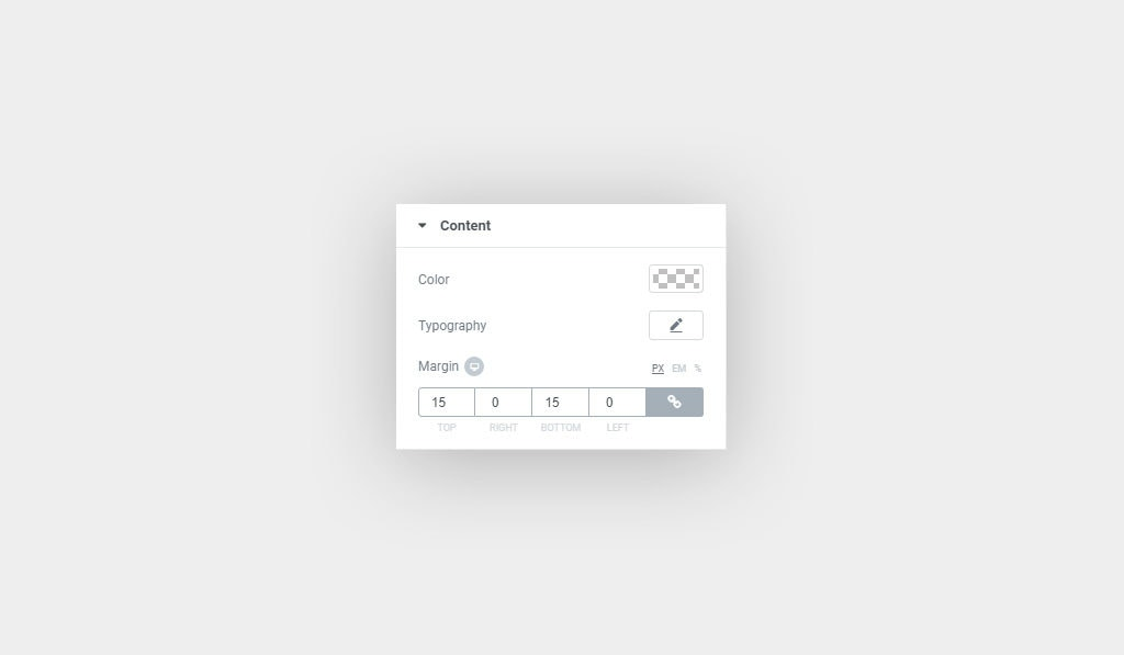 Elementor Testimonials Widget Main Content Customization Settings