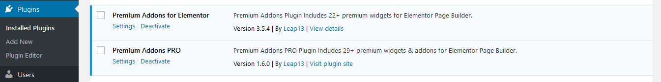 Premium Addons for Elementor Free and PRO versions