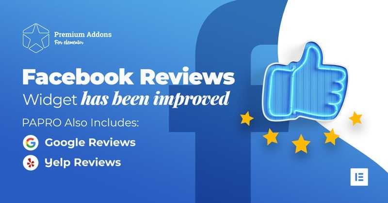 Facebook Reviews Widget for Elementor Page Builder - Premium