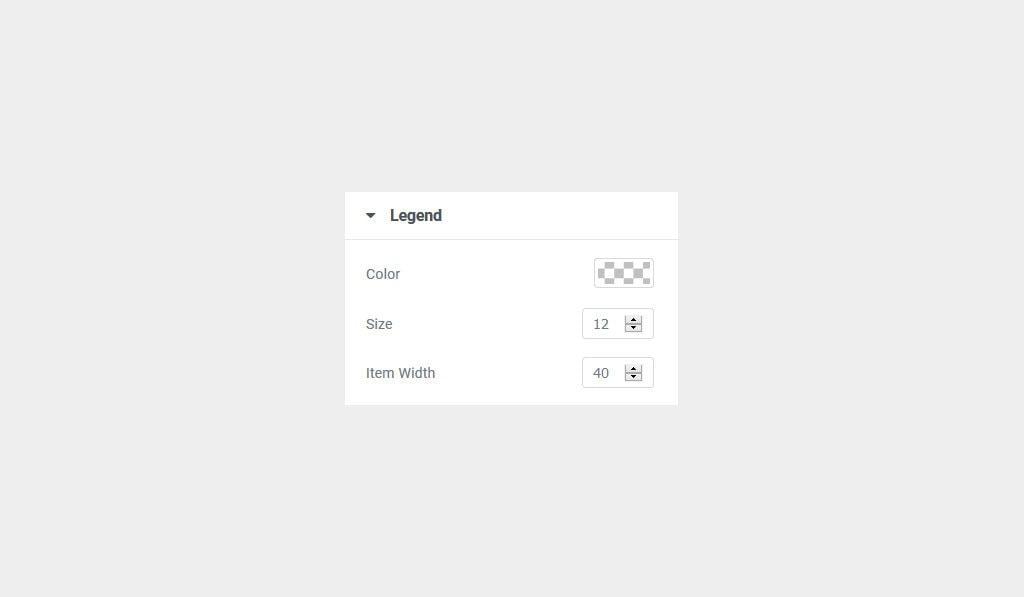 Elementor Chart Widget Legend Styling Settings