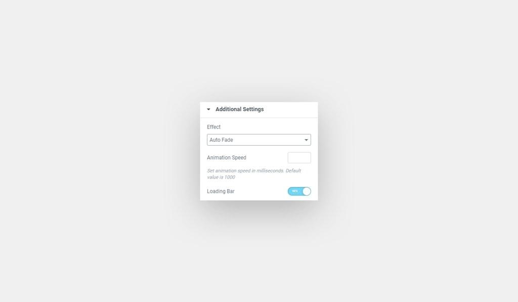Elementor Fancy Text Auto Fade Effect Settings