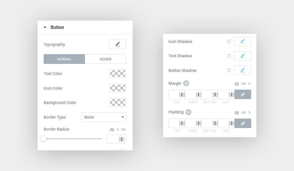 Premium Elementor Button Widget Styling options