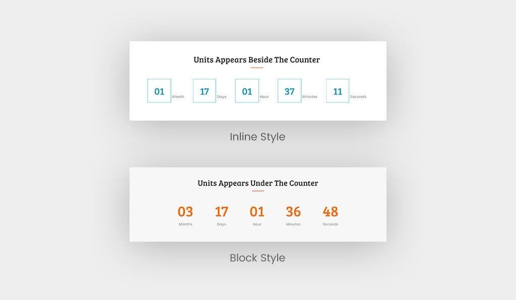 Elementor Countdown Widget Styles