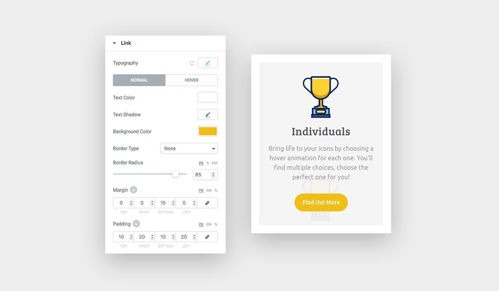 Link Customization Options for Elementor Icon Box Widget
