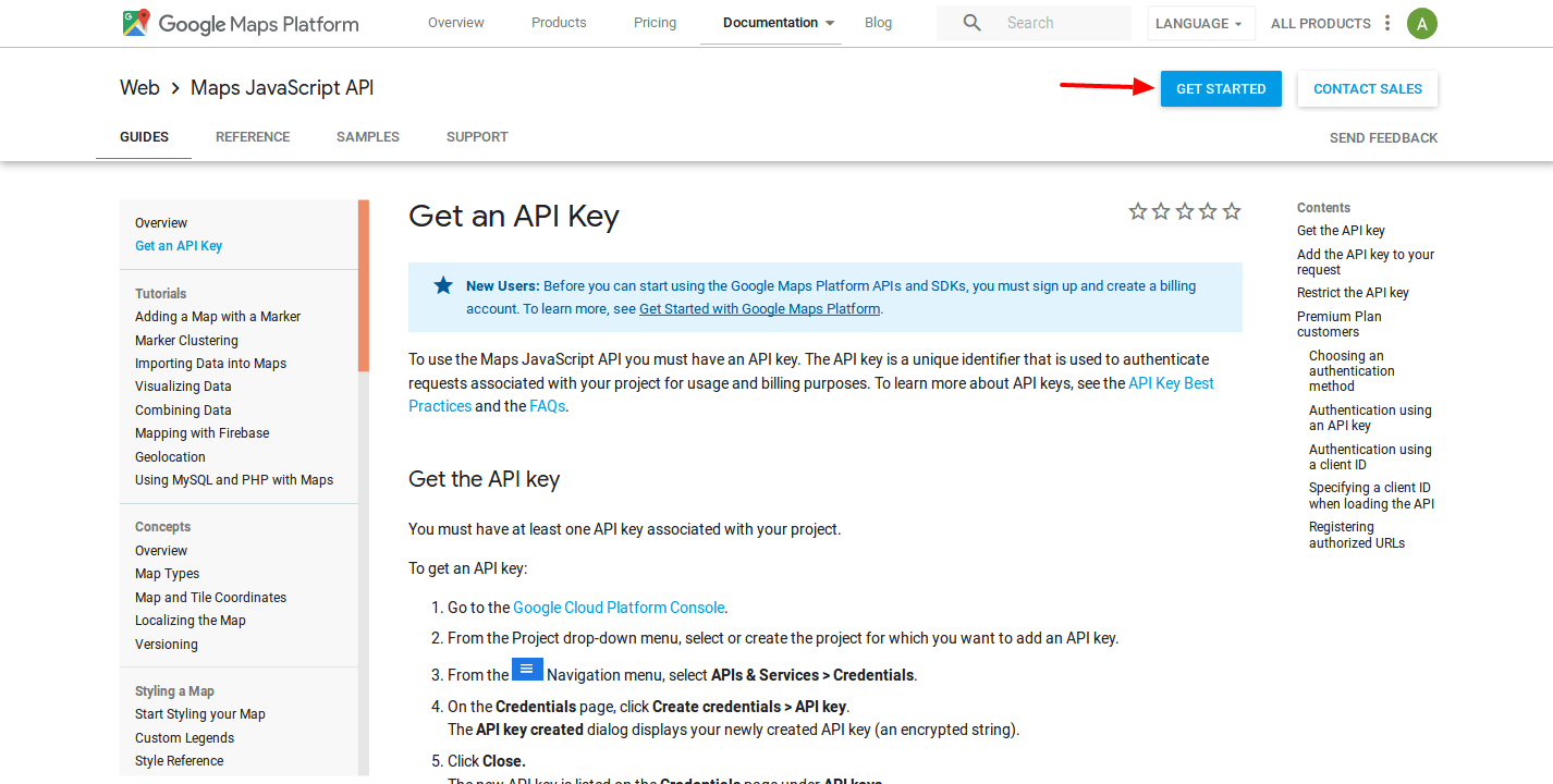 Getting Your Api Key For Google Maps Reviews Widget Premium