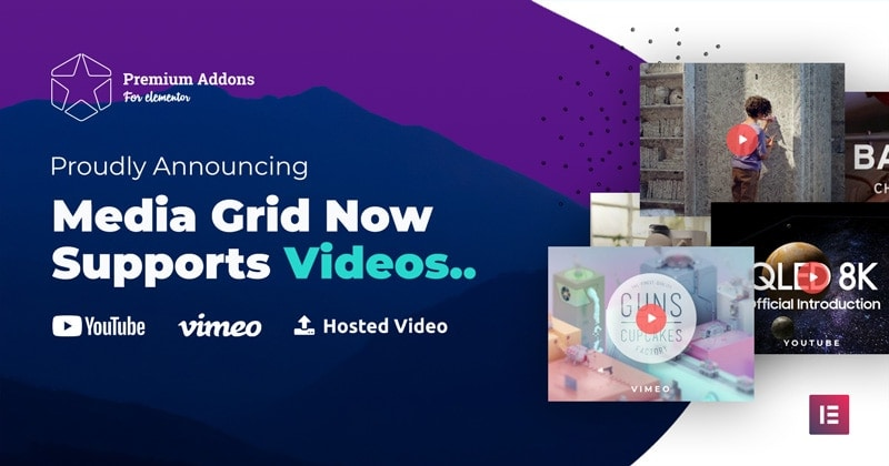 Media Grid now supports videos