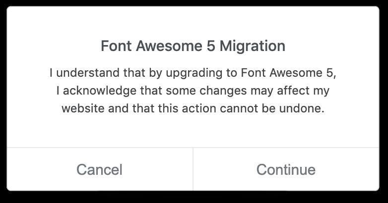 Elementor Font Awesome Migration