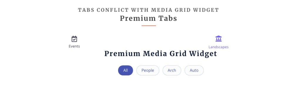 Display issues with Elementor Media Grid and Tabs widgets