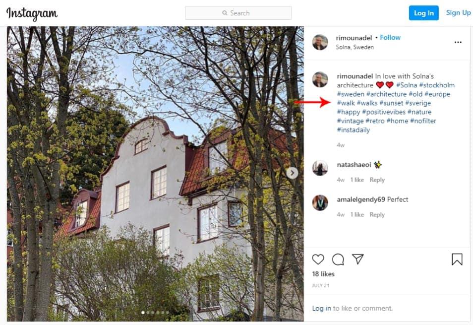 Elementor Instagram Feed widget hashtags