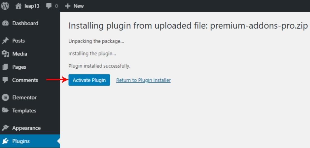 Activate Premium Addon Pro Plugin