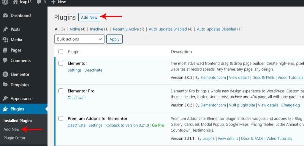 Adding New WordPress Plugin