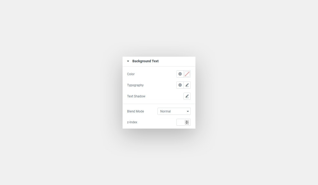 Background Text Style in Elementor's Dual Heading Widget