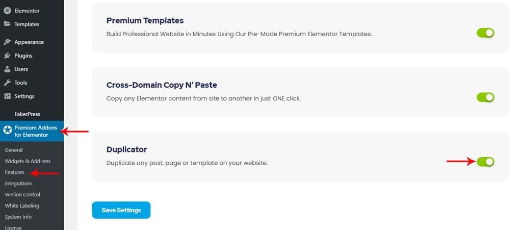 Elementor Post Duplicator Option In Premium Addons