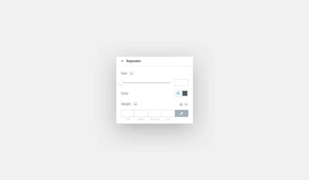 Elementor Countdown Widget Separator Style