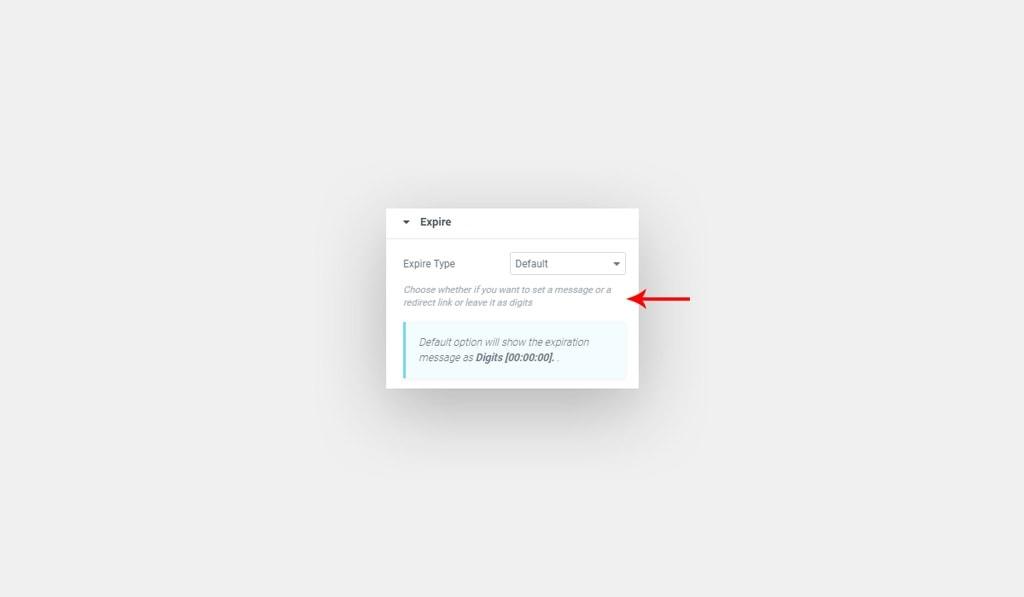 Elementor Countdown Widget Default Expire Type