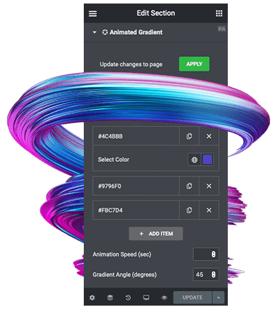Animated Gradients for Elementor Page Builder