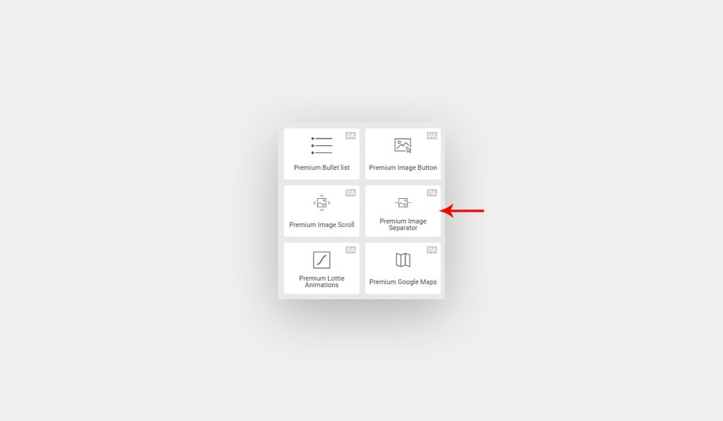 Elementor Image Separator Widget