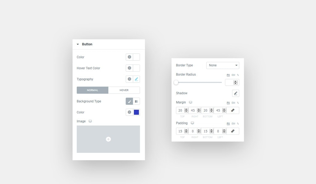 Button Styling Controls in Elementor Pricing Table Widget