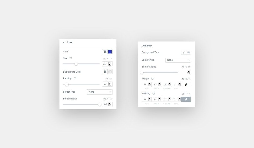 Elementor Pricing Table's Icon Styling Options