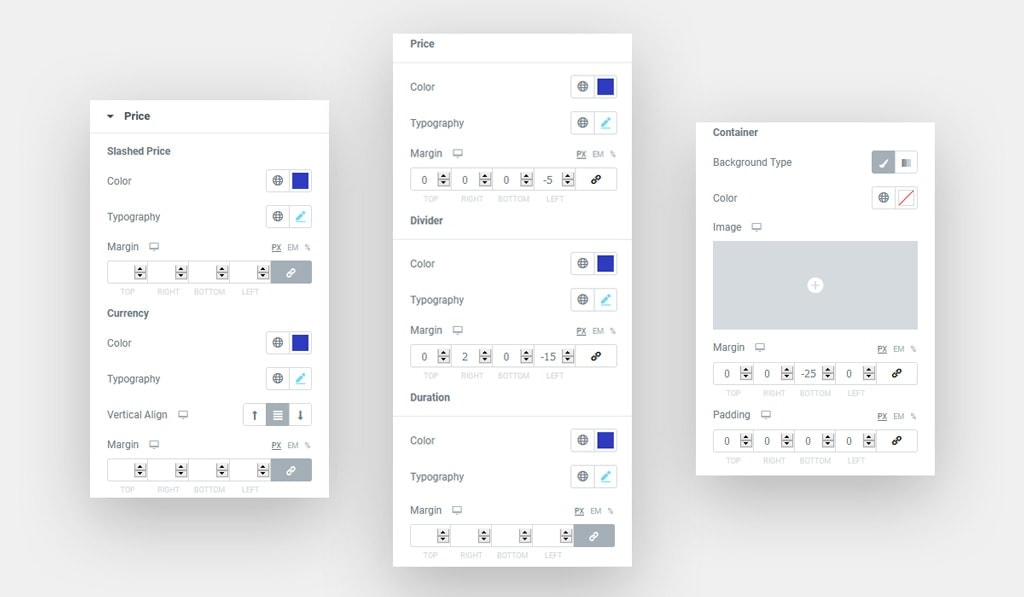 Price Styling Options in Elementor Pricing Table Widget