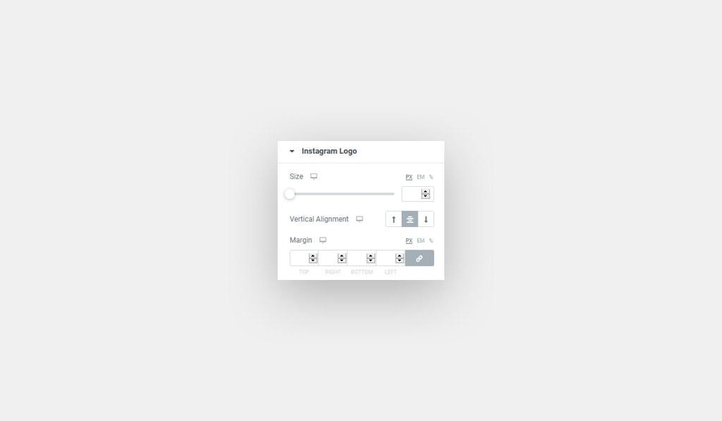 Instagram Logo Style in Elementor Instagram Feed Widget